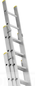 three section aluminum ladder
