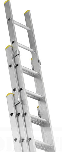 three section aluminum ladder